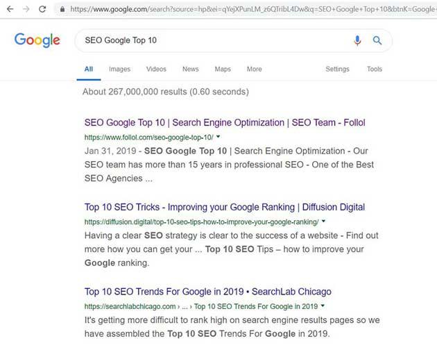 Оптимизация за Търсачки